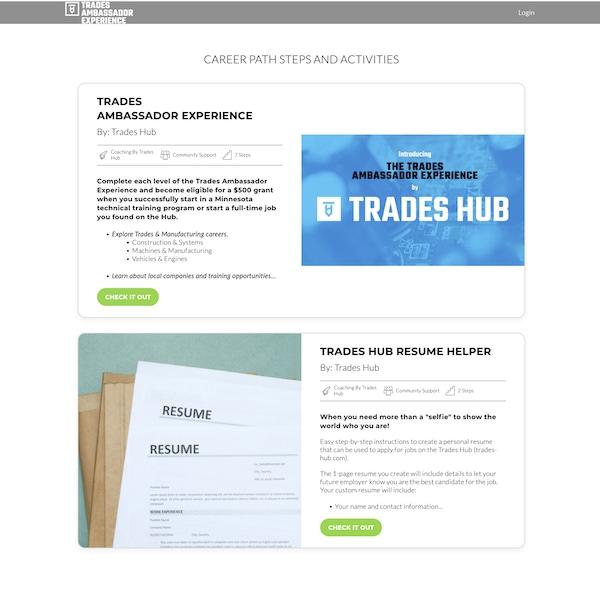 New Landing Catalog Page Screenshot